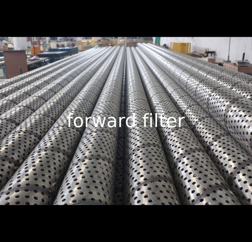 Round Hole Perforated Stainless Steel Cylinder , 316 Perforated Metal Tube